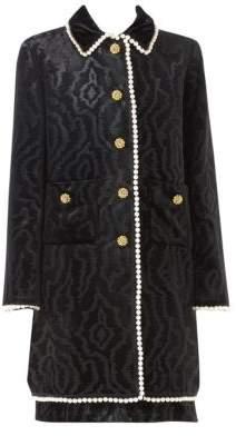 Gucci Pearl-Trimmed Velvet Coat