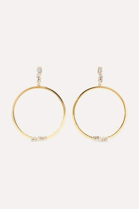 Suzanne Kalan 30mm 18-karat Gold Diamond Earrings