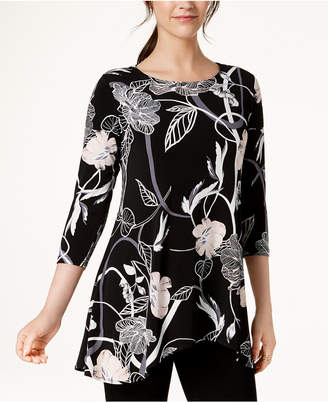 Alfani Petite Printed High-Low Tunic