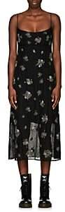 Marc Jacobs Women's Floral-Embellished Silk Dress - Black