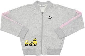 Puma Select Minions Print Zip-Up Cotton Sweatshirt