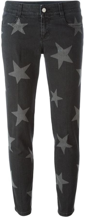 Stella McCartney 'Skinny Boyfriend' star print jeans