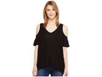 Michael Stars Hemp Jersey V-Neck Cold Shoulder Tee Women's T Shirt
