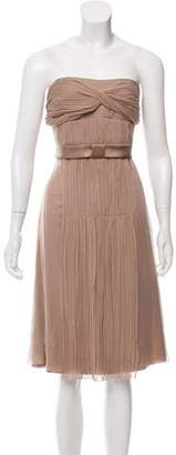 Blumarine Bow-Embellished Silk Dress