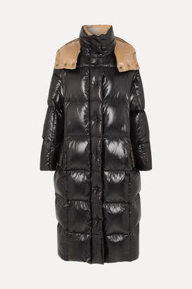 Moncler Hooded Quilted Shell Down Coat - Black