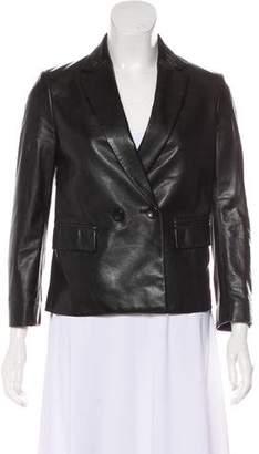 3.1 Phillip Lim Notch-Lapel Leather Blazer