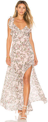 For Love & Lemons Bee Balm Floral Maxi Dress in Pink $290 thestylecure.com