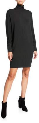 Neiman Marcus Majestic Paris for Long-Sleeve Turtleneck Shift Dress