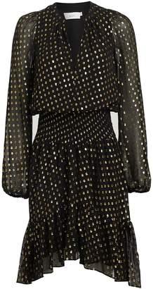 A.L.C. Sidney Metallic Fil Coupe Mini Dress