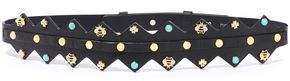 Maje Airelle Studded Leather Belt