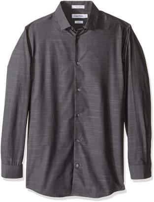 Calvin Klein Big Boys Long Sleeve Stripe Woven Shirt