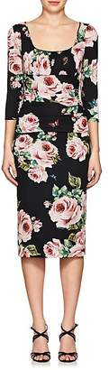 Dolce & Gabbana Women's Floral Silk Ruched Sheath Dress