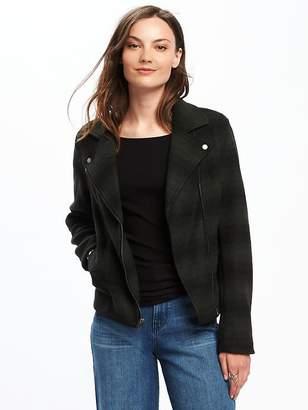 Old Navy Sweater-Fleece Moto Jacket for Women