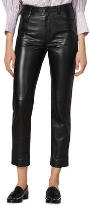 Sandro Leather Ankle Pants