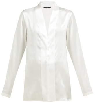 bc2cd5ec5d2752 Haider Ackermann Dali Shawl Collar Silk Blouse - Womens - Ivory