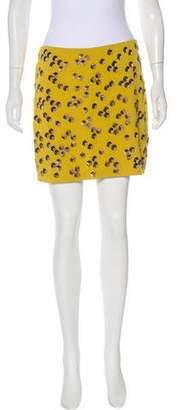 Diane von Furstenberg Yvan Embellished Mini Skirt