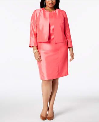 Le Suit Plus Size Open-Front Dress Suit