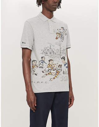 Polo Ralph Lauren Rugby-print classic-fit cotton polo shirt