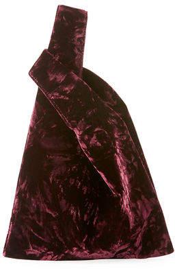 Hayward Mini Folded Velvet Shopper Tote Bag