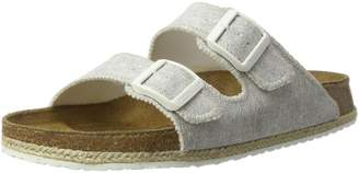 Papillio Womens by Birkenstock Arizona Beach Light Grey Fabric Sandals 40 EU