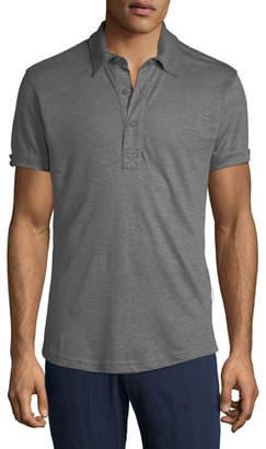 Orlebar Brown Men's Sebastian Tailored Linen Polo Shirt