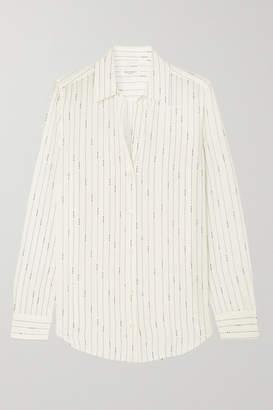 Equipment Essential Printed Silk Shirt - White