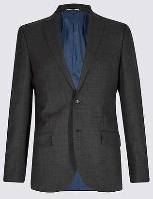 M&S Collection Big & Tall Grey Textured Tailored Fit Jacket