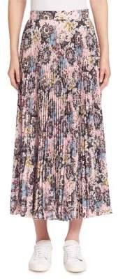 A.L.C. Williams Silk Pleated Midi Skirt