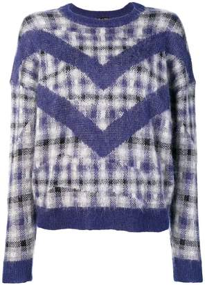 Le Mont St Michel checked jumper