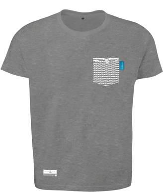 ANCHOR & CREW - Athletic Grey Marker Print Organic Cotton T-Shirt
