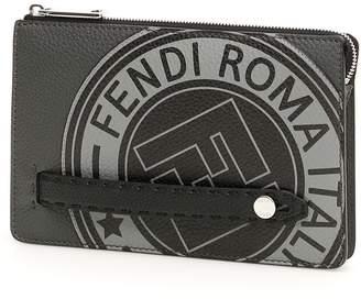Fendi Roman Leather Logo Clutch