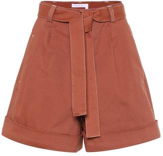 See by Chloe High-rise cotton twill shorts
