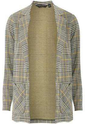 Dorothy Perkins Womens Ochre Checked Jersey Jacket