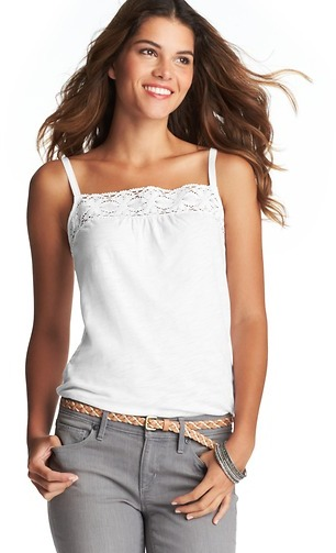 LOFT Lace Trim Cotton Cami