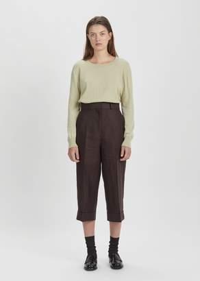 Margaret Howell Linen Cropped Trouser Bark