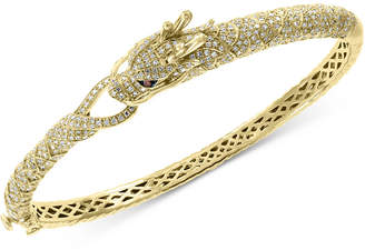 Effy Diamond Dragon Bangle Bracelet (1-3/4 ct. t.w.) in 14k Gold