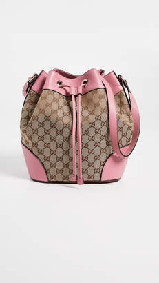 Gucci What Goes Around Comes Around Canvas Classic Bucket Bag