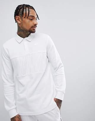 Nike Sb SB Long Sleeve Polo Shirt In White 885847-100