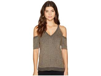 Splendid Surrey Marl Cold Shoulder Pullover Women's Clothing