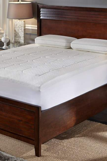 Rio Home Euro Top Quilted Memory Foam Mattress Topper - King