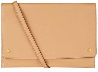 Burberry Leather Dual-Flap Pouch