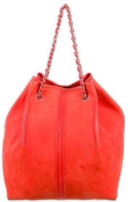 Chanel Suede Drawstring Bag Red Suede Drawstring Bag