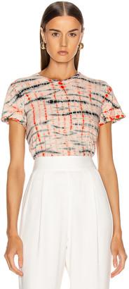 Proenza Schouler Tie Dye T Shirt in Peach & Orange | FWRD