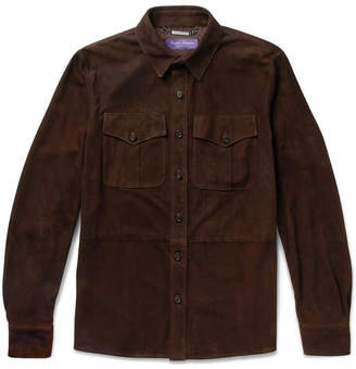 Ralph Lauren Purple Label Barron Suede Shirt Jacket