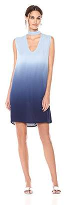 BB Dakota Women's Jill Dip Dye Printed Shift Dress