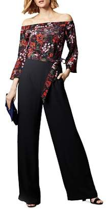 Karen Millen Floral Detail Off-the-Shoulder Jumpsuit