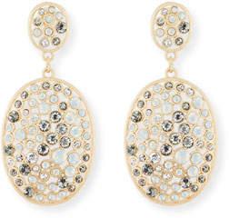 Sequin Multi-Bezel Crystal Drop Earrings