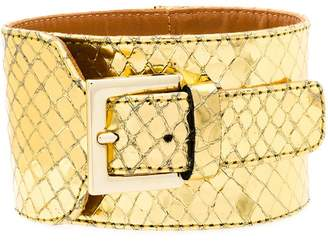 Via Roma 15 snakeskin effect buckled bracelet