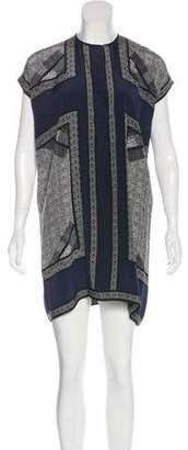 Vince Printed Silk Mini Dress