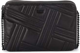 DKNY Allien Black Quilted Leather Shoulder Bag